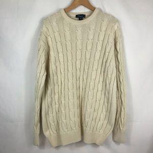 Blumarine UOMO Cream Beautiful Cotton Sweater